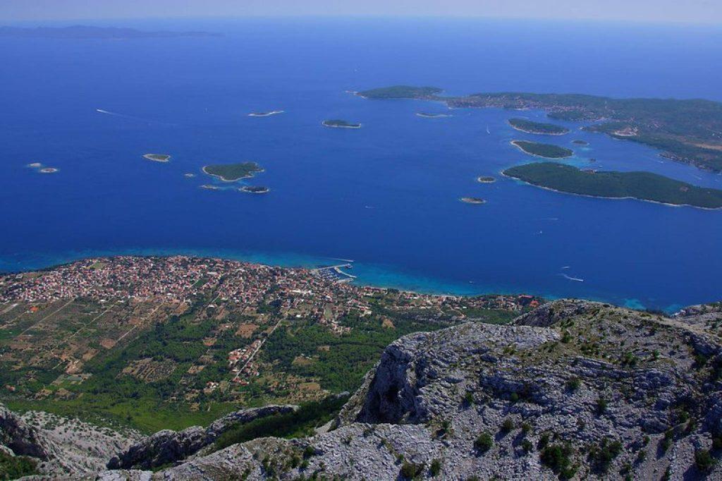 Die Stadt Orebic, Kroatien