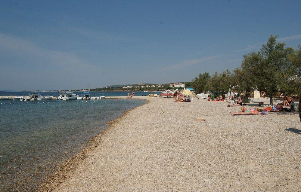 Kieselstrand Drazice Biograd, Kroatien